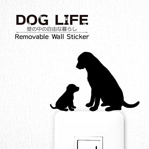 ウォールステッカー DOG LIFE 「ラブラドールレトリバー 親子」