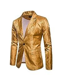 Men's Casual Slim Fit Suit Business Long Sleeve Blazer Coat Jacket Suit Tops