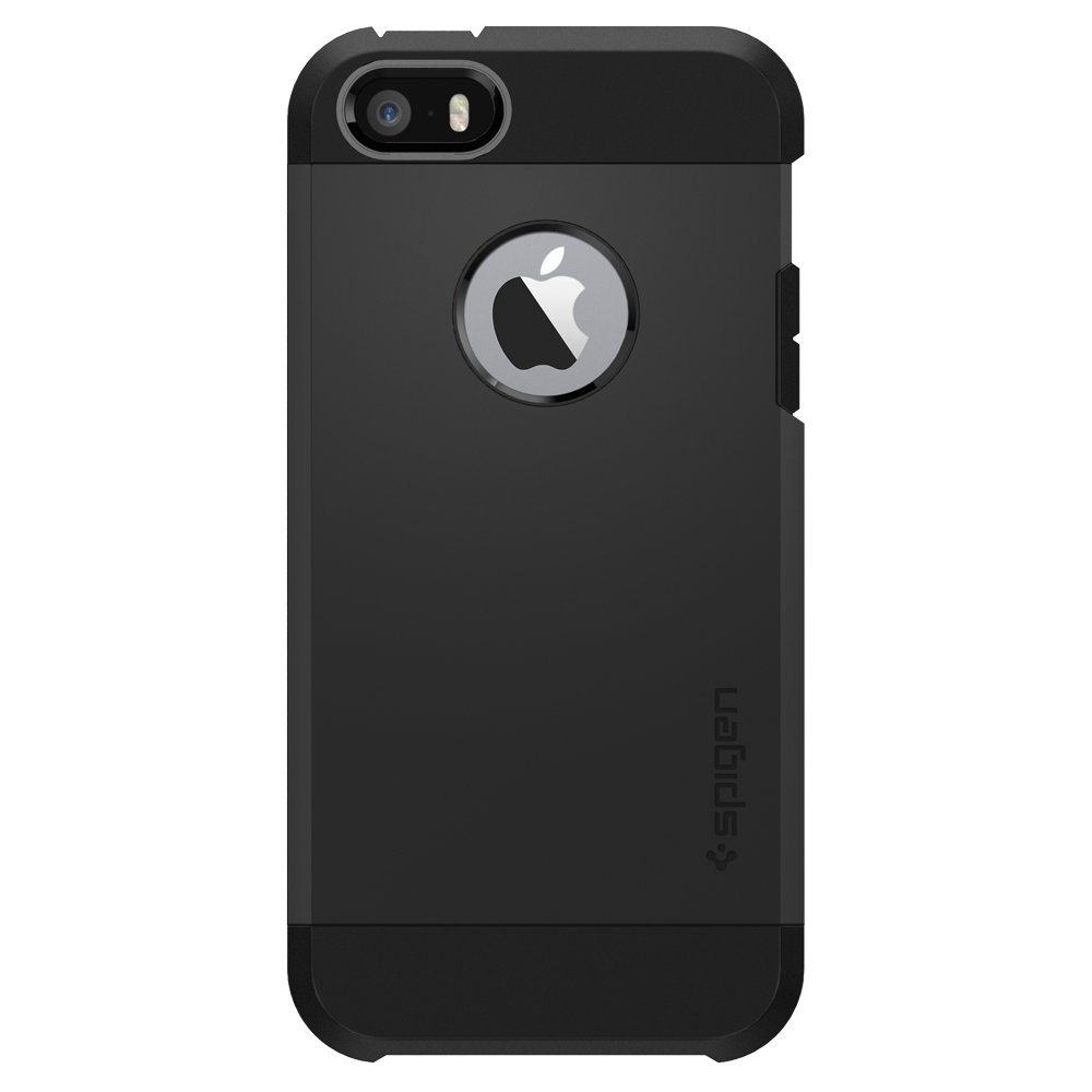 Spigen Tough Armor iPhone 5S / 5 Case with Extreme Heavy Duty Protection and Air Cushion Technology for iPhone 5S / iPhone 5 - SF Smooth Black by Spigen (Image #2)