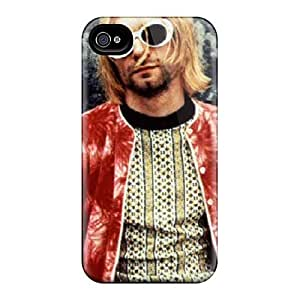 Shockproof Cell-phone Hard Covers For Iphone 4/4s (QCK7069Sbpl) Provide Private Custom High-definition Nirvana Pattern