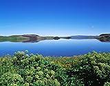 Iceland,Lake Myvatn - Panoramic view of a lake 30x40 photo reprint