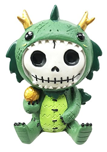 [Furry Bones Tatsu Japanese Dragon Costume Skeleton Monster Sit Up Collectible Figurine] (Merlin Costumes)