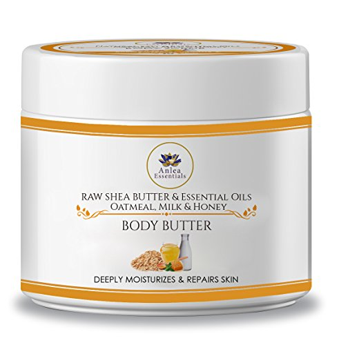 (Anlea Essentials Oatmeal, Milk and Honey Whipped Body Butter 8oz)