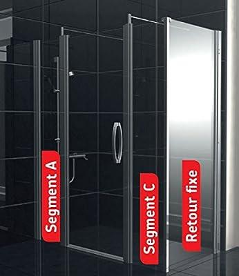 AKW – Mampara de ducha con cristal Duo Care fijo 1000 mm alto. 900 mm larenco: Amazon.es: Bricolaje y herramientas