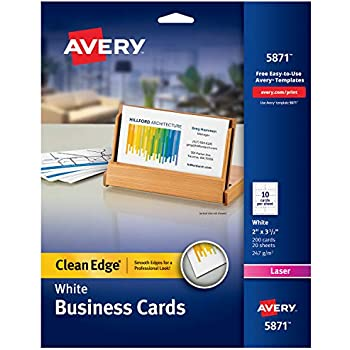 Amazon avery printable business cards laser printers 250 avery printable business cards laser printers 200 cards 2 x 35 clean edge 5871 colourmoves