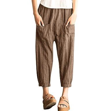 Pantalon Chandal Mujer De Vestir Vintage Casual Lino Sueltos ...