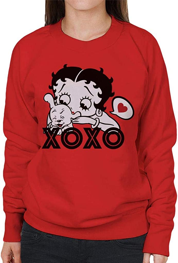 Comics Kingdom Betty Boop Bimbo Pudgy Womens Sweatshirt