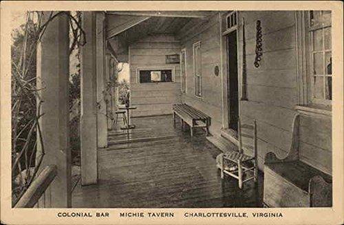 Colonial Bar, Michie Tavern Charlottesville, Virginia Original Vintage (Colonial Bar)