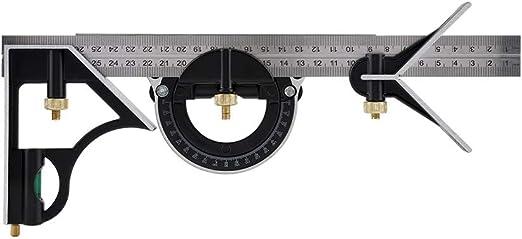 Jadpes Angle Ruler Measuring Tool,300mm Adjustable Multi-functional Activity Horizontal Combination Square Ruler Right Angle Ruler Engineer Measuring Tool #1
