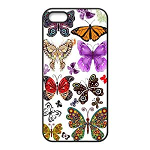 Butterfly Customize Protective Rubber Back Cover Skin Case Suit For iPhone 5 iPhone 5s