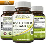 Organic Apple Cider Vinegar 1500mg- Raw, Non-GMO, Extra Strength, 180 Capsules, Vegetarian