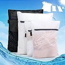 Tidinesslife Wäschenetz Wäschebeutel mit Reißvverschluss Wäschesack für Wäsche Large& Small