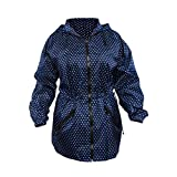ShedRain Packable Anorak Jacket Lightweight BITTY DOT Blue, Large / X-Large
