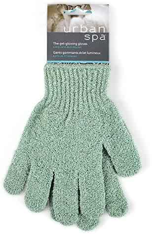 Urban Spa Exfoliating Gloves For Shower, Bath, Exfoliating and Cleansing Colors May Vary