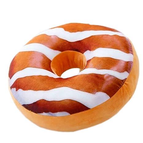 Krooe - Funda de cojín con diseño de Donut, 45 x 45 cm ...
