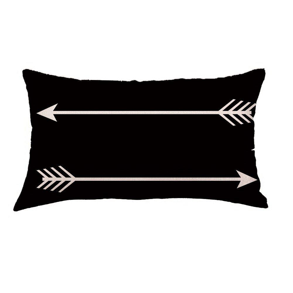 Pillowcases di lino, Longra La stampa geometrica stampa i cuscini di cotone amovibili e lavabili decorativi