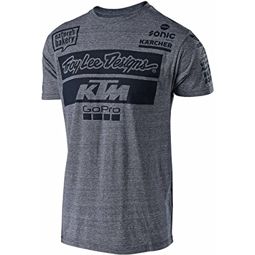 Troy Lee Designs Mens TLD-KTM-Team Short-Sleeve T-Shirts 2018 (Vintage Gray, X-Large)