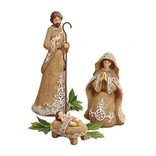 Burlap Nativity Set by Burton & Burton