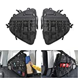 YOCTM Car Styling Left Right Roll Bar Storage Bag Cage with Multi-Pockets & Organizers & Cargo Bag Tool Kits Holder for 2018 2019 Jeep Wrangler JL Parts Accessories (2-Pack)