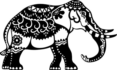 Journalling Cards (Marabu Stencil Din A4 Indian Elephant)
