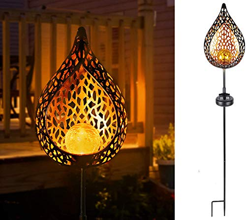 INVURA Solar Lights Outdoor Decorative, Garden Decor for Lawn, Yard, Patio, Waterproof and Fast-Charging Panel