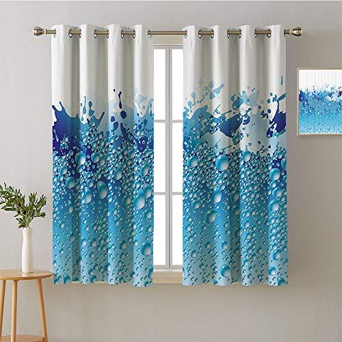 ScottDecor Curtain Kitchen Grommets Light Darkening Curtains Household Darkening Curtains livingroom Darkening Curtains Drapes/Draperies(2 Pieces, 52