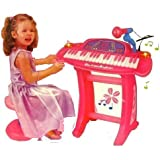 Kids Authority - 36 keys Pink Piano/Keyboard set with Microphone and stand/Chair