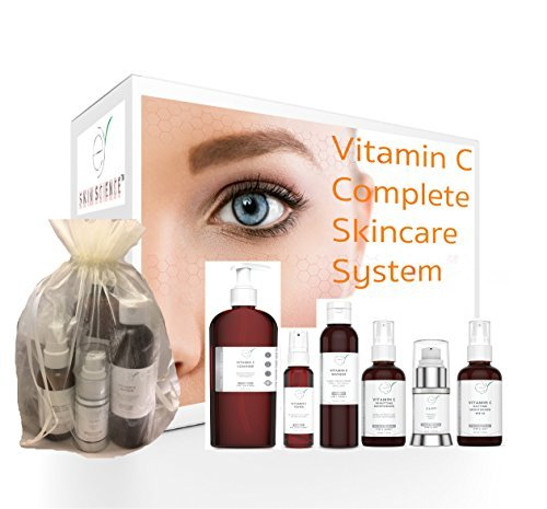Beauty Skincare Set - 67% OFF - Vitamin C Complete Skincare System - For Skincare Professionals or Home Use - Six high end products per set - For All Your Anti-Aging Beauty Skincare Needs by Eternal Youth Skin Science