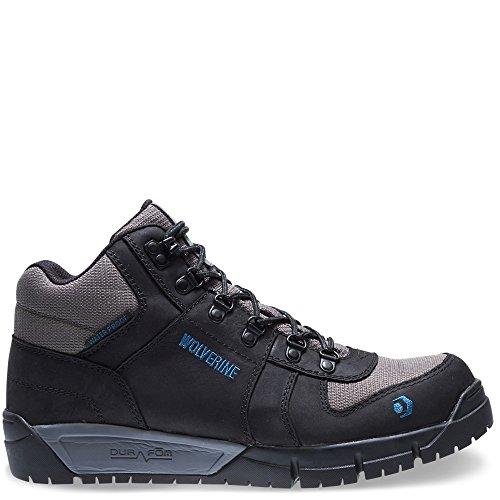 Wolverine Men's Mauler Hiker Composite Toe Waterproof Work Boot, Black, 9 3E