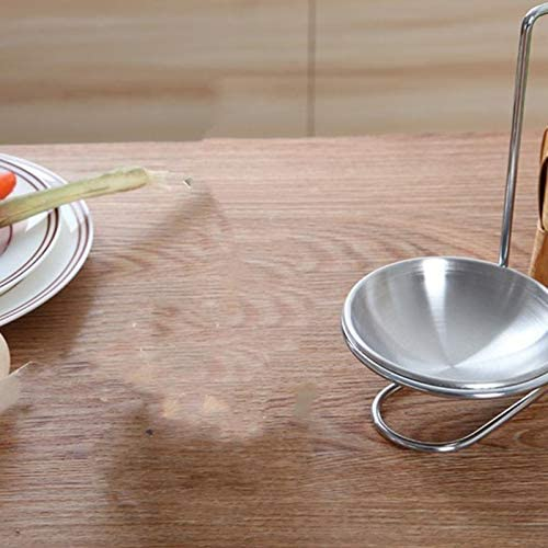Fablcrew Support de Cuillere en Acier Inoxydable,Repose-cuill/ère INOX,Repose Ustensiles Manche Long Vertical Soupe Support Cuillere /à Soupe de Cuillere