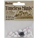 Darice Miniature - Bowling Set Spatterware - 3/4 inch - 1 set