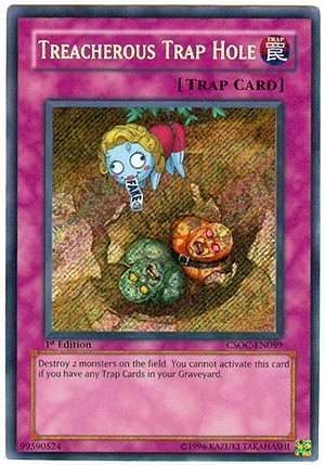 Trap 1st Edition (Yu-Gi-Oh! - Treacherous Trap Hole (CSOC-EN089) - Crossroads of Chaos - 1st Edition - Secret Rare)
