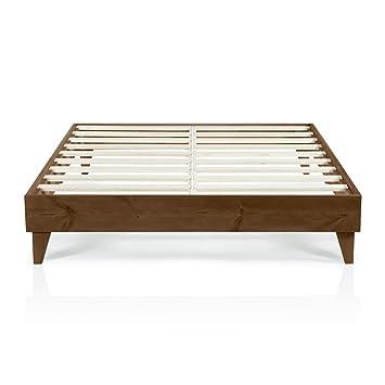 Modern California King Size Platform Bed Frame   Solid Wood Design   Made  in U S. Amazon com  Modern California King Size Platform Bed Frame   Solid