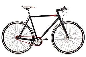 KS Cycling Fahrrad Fitness-Bike Single Speed Essence RH 59 cm, Schwarz, 28, 398B