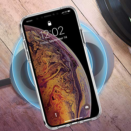 Trianium Clarium Case Designed for Apple iPhone Xs MAX Case (2018 6.5'' Display ONLY) Reinforced Corner TPU Cushion and Hybrid Rigid Clear Back Plate Protection Covers [Enhanced Hand Grip] - Clear by Trianium (Image #6)