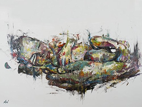 Shai Yossef extra-large oil painting print by the Artist, Hand Painted of oil artwork on cotton canvas,great for Wall Decor- baby (Monte Carlo Contemporary Mirror)