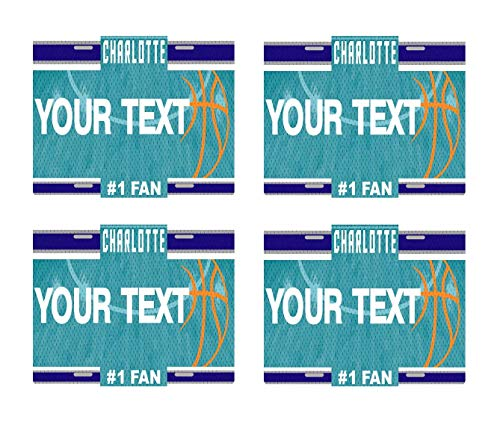 - BRGiftShop Personalize Your Own Basketball Team Charlotte Set of 4 Square Beverage Coasters