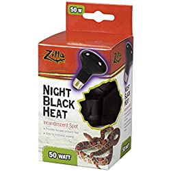 Zilla 09928 Night Black Heat Incandescent Spot Bulb, 50-Watt