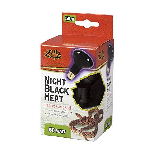 Light Night Bulb Reptile Incandescent (Zilla 09928 Night Black Heat Incandescent Spot Bulb, 50-Watt)