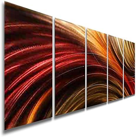 Statements2000 3D Metal Wall Art Panels Abstract Modern Red Decor Jon Allen