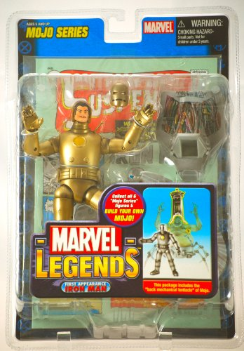 Toy Biz Mint - Marvel 2006 - Toy Biz Legends - Mojo Series - Iron Man (1st Appearance) - Action Figure - 36 Pts of Articulation - Diorama & 32 Page Comic - Out of Production - Limited Edition - Collectible