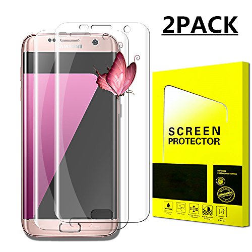 Screen Protector Film Case (Galaxy S7 Edge Screen Protector Full Screen Coverage 3D PET Screen Protector Film Case Friendly for Samsung Galaxy S7 Edge Clear[2 Pack] Clear New)