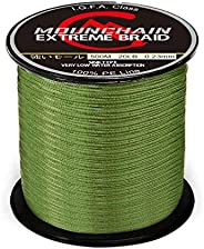 Mounchain 100% PE 500M 4 Strands Braided Fishing Line, Sensitive Braided Lines, Super Performance and Cost-Eff