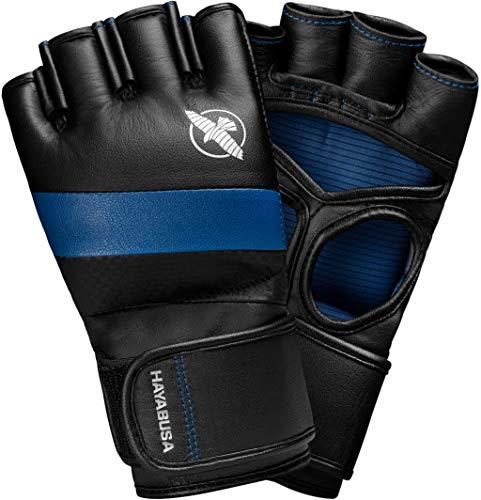 Hayabusa MMA Gloves | T3 MMA Pro Style MMA Gloves | Men and Women | 4oz | Black/Blue | Large (4oz Mma Gloves)