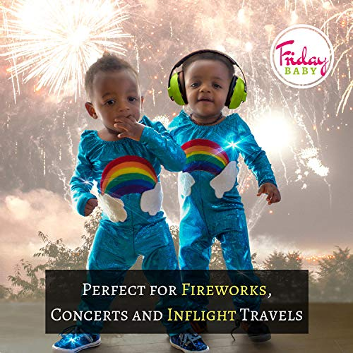 Baby Ear Protection - Comfortable and Adjustable Premium Noise Cancelling Headphones for Babies, Infants, Newborns (0-2+ Years)   Best Baby Headphones Noise Reduction for Concerts, Fireworks & Travels by Friday Baby (Image #3)