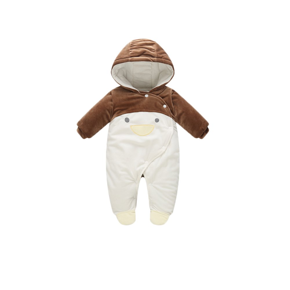 Baby Snowsuit Strampler , Feicuan Neugeborene Säugling Jumpsuit mit Kapuze Penguin Bodysuit Winter Warm 0-12 Monate Toddler