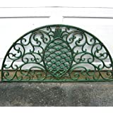 Iron Pineapple Scrolled Doormat Green Antique Finish