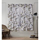 Nicole Miller Kristy Hidden Tab Top Curtain Panel, Honey Gold, 50x63, 2 Piece