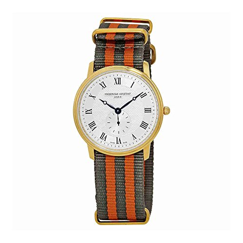 Frederique Constant Slimline Unisex Two Tone Watch FC-235M4S5-GR-ORANGE