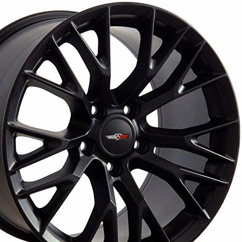 17×9.5 Wheel Fits Corvette, Camaro – C7 Z06 Style Black Rim